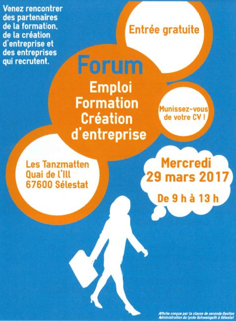 Forum Emploi – Formation – Création d'entreprise 2017