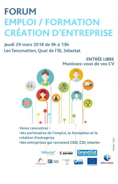 Forum Emploi Formation Création d'Entreprise 2018