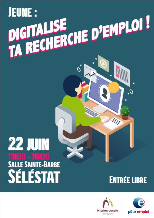 Digitalise ta recherche d'emploi – 22 Juin 2018 – Sélestat
